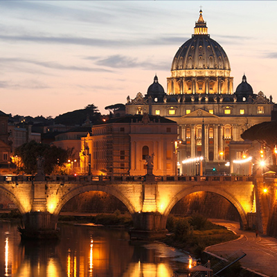 Image of Rome and link to info about CYF Rome