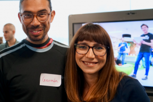 Lili with Code Your Future founder Germán Bencci